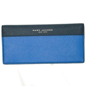 Marc Jacobs Saffiano Wallet in Royal Blue & Black